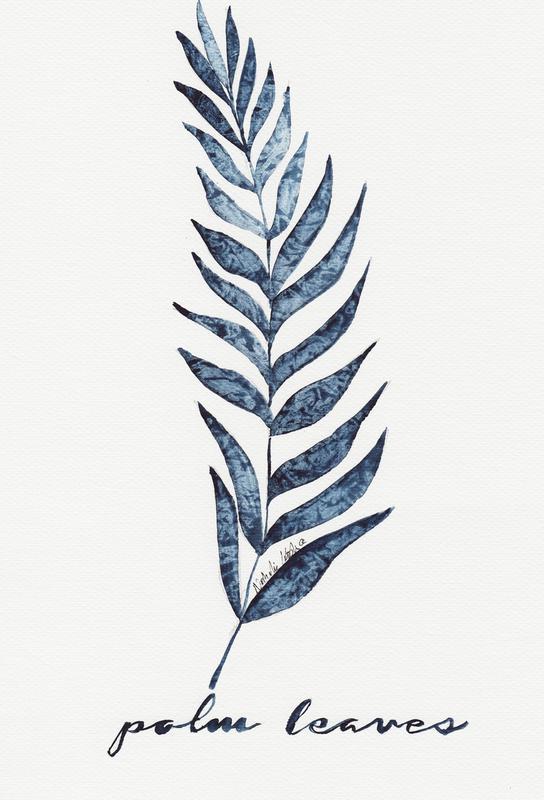 Palm Leaves -Alubild