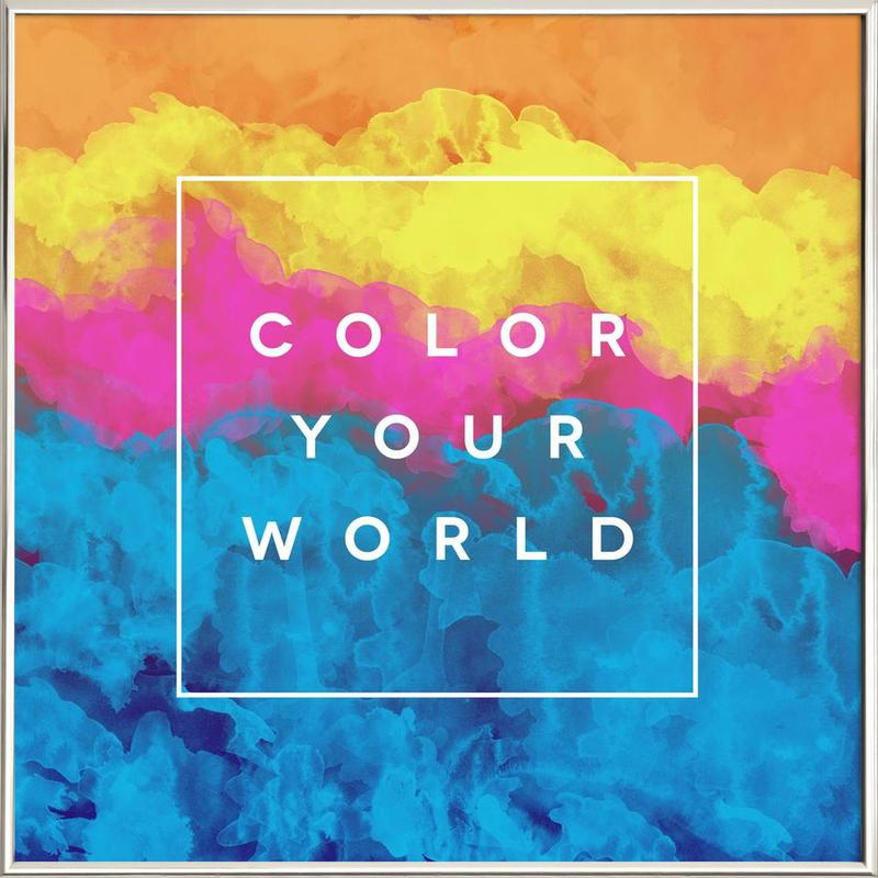 Color Your World poster in aluminium lijst