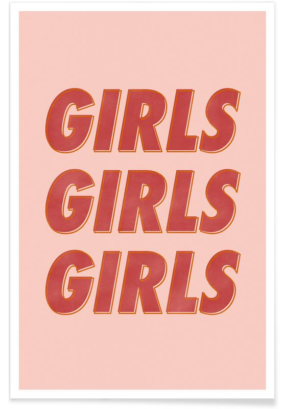 Girls Red Poster