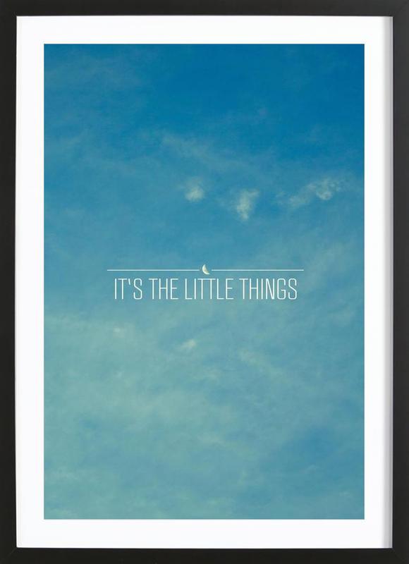 Little Things ingelijste print
