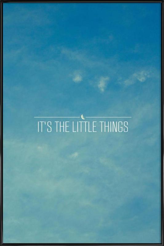 Little Things -Bild mit Kunststoffrahmen