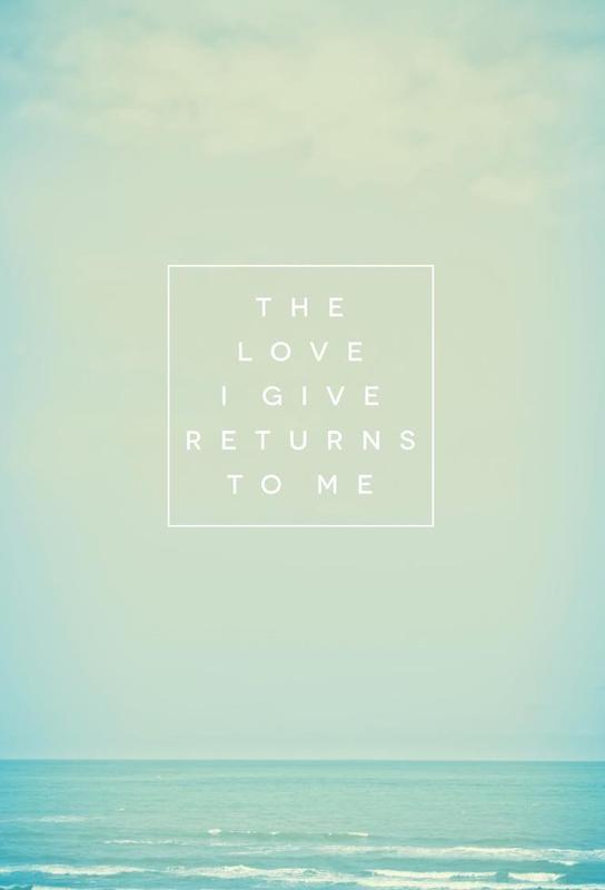 The Love I Give II Impression sur alu-Dibond