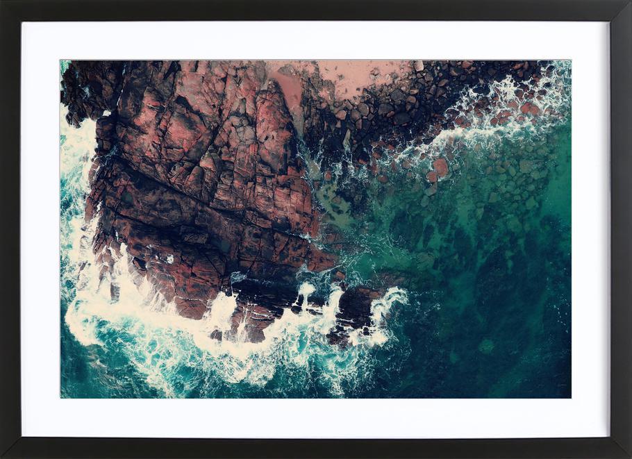 Emerald Green Sea ingelijste print
