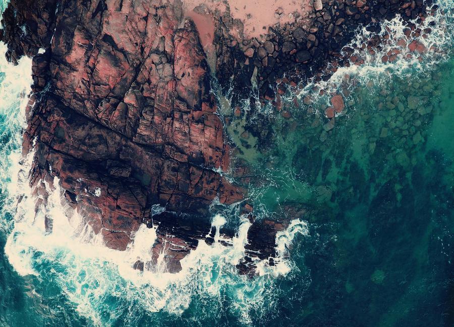 Emerald Green Sea Canvas Print