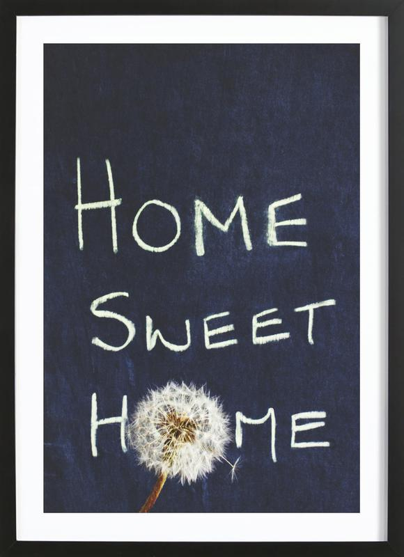 Home Sweet Home -Bild mit Holzrahmen