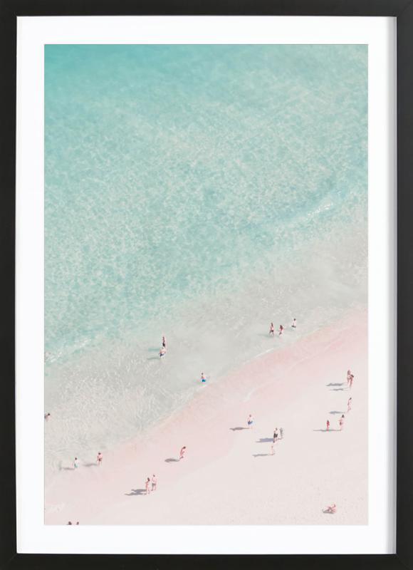 Beach Love affiche sous cadre en bois