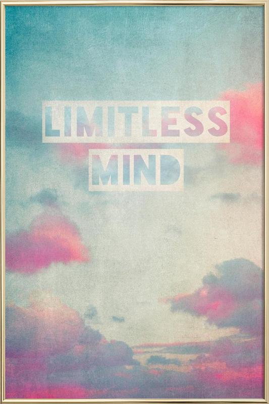 limitless mind Poster in Aluminium Frame
