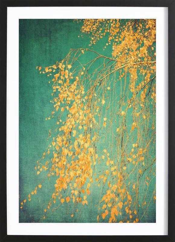 Whispers of Yellow affiche sous cadre en bois