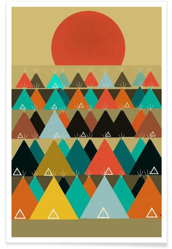 tipi moon Poster