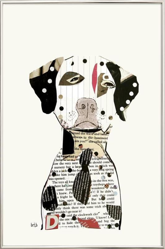 dalmatian Poster in Aluminium Frame