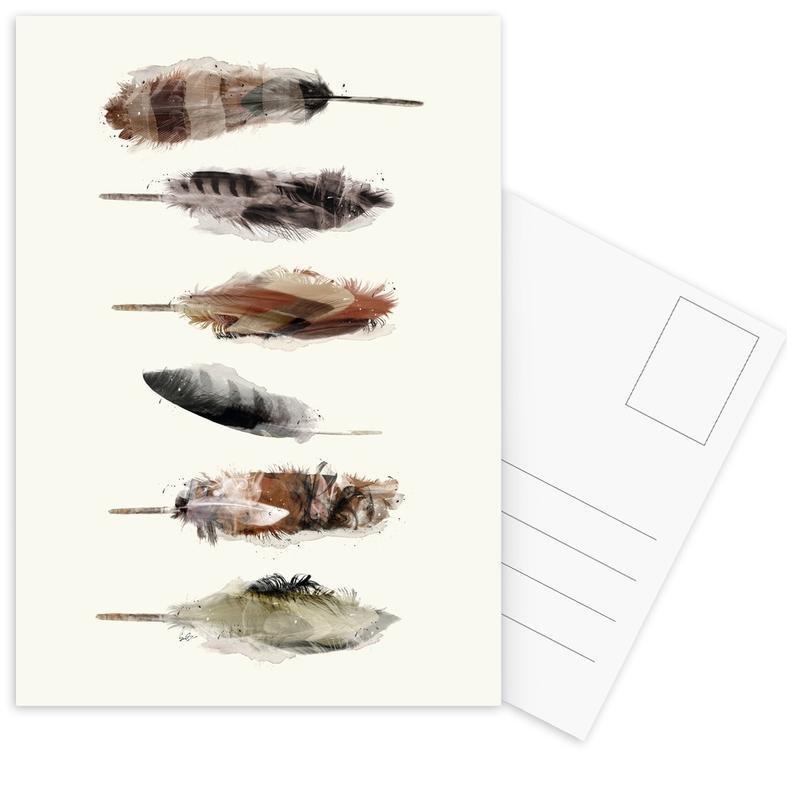 Free Fall Feathers Postcard Set