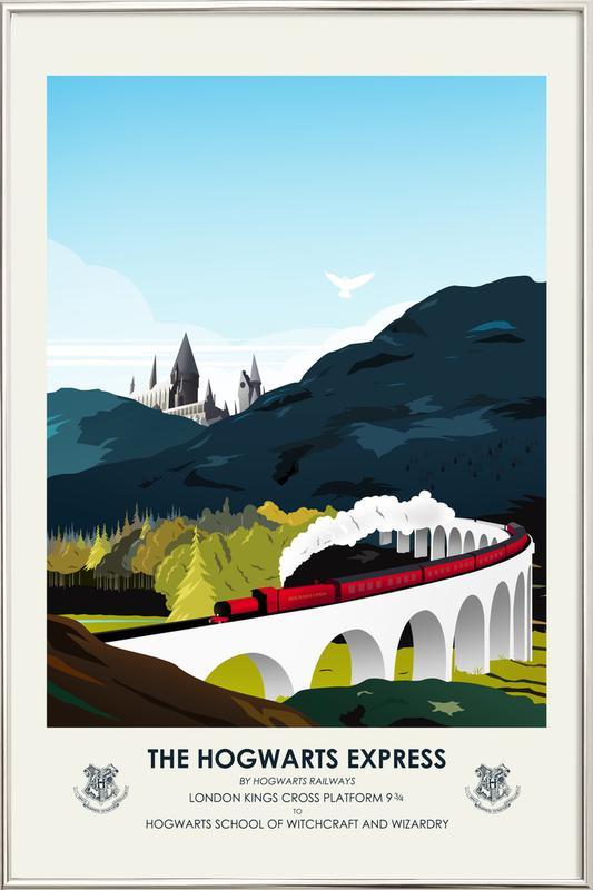 Hogwarts Express -Poster im Alurahmen