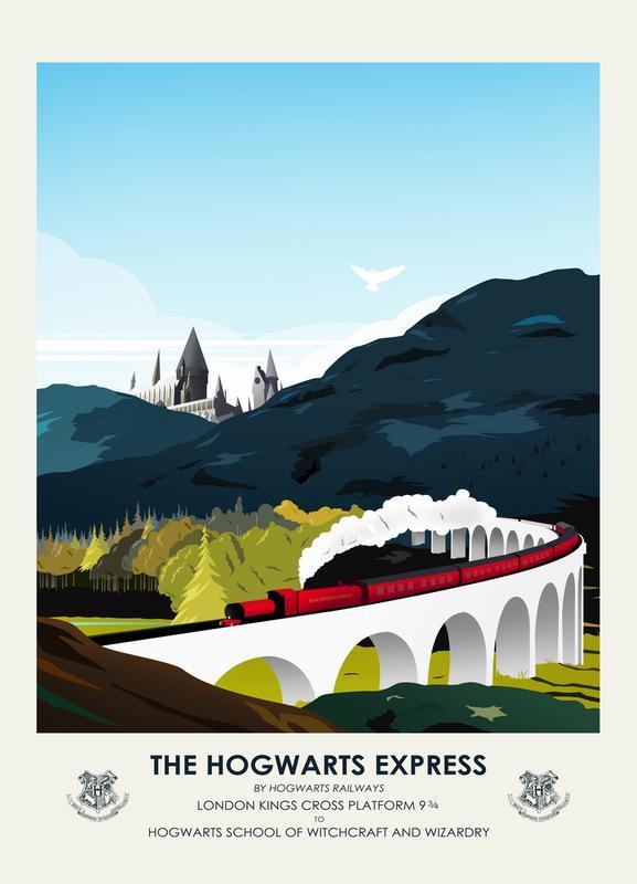 Hogwarts Express -Leinwandbild