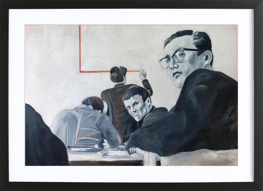 Die Arbeit der Zeit- Johnny Trotz und die Quadratur des Kreises Framed Print
