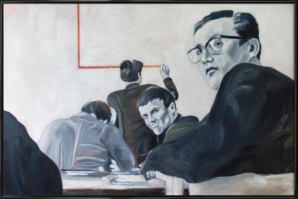 Die Arbeit der Zeit- Johnny Trotz und die Quadratur des Kreises Framed Poster