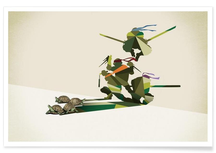 Walking Shadow - Turtles poster