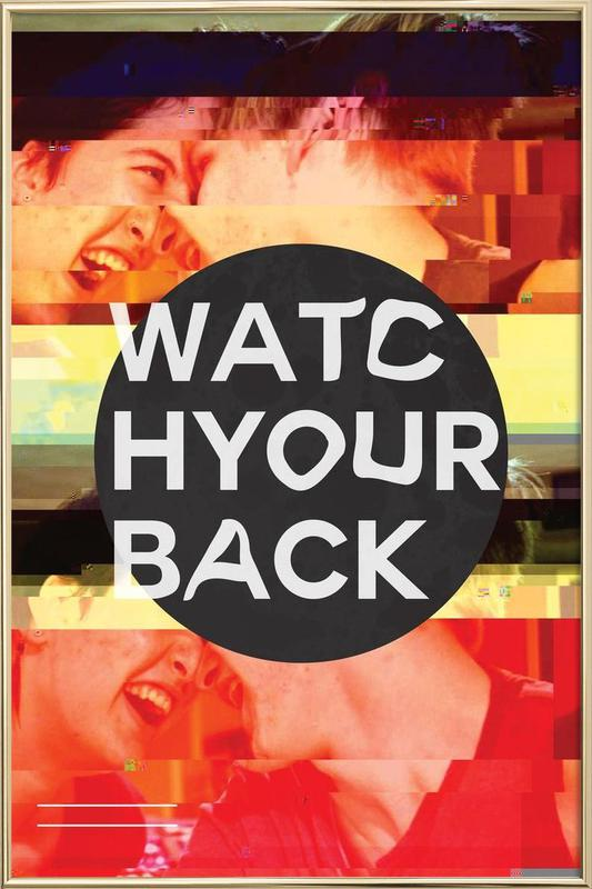Glitch - Watch Your Back poster in aluminium lijst