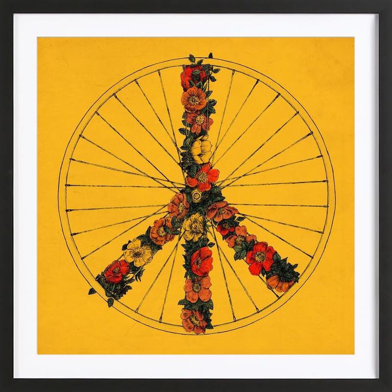 Peace & Bike Framed Print