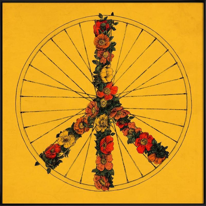 Peace & Bike Framed Poster