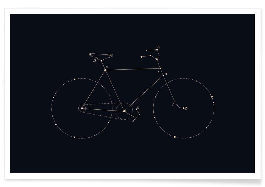 Bike Constellation Poster