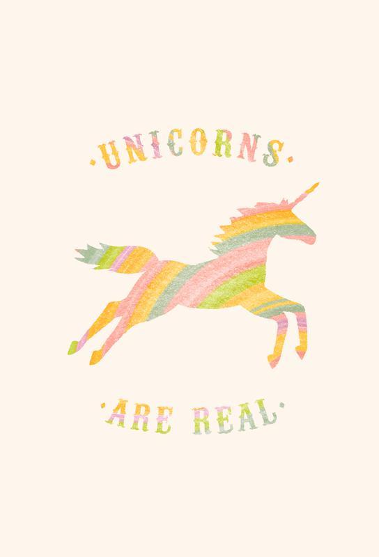 Unicorns Are Real II Acrylic Print