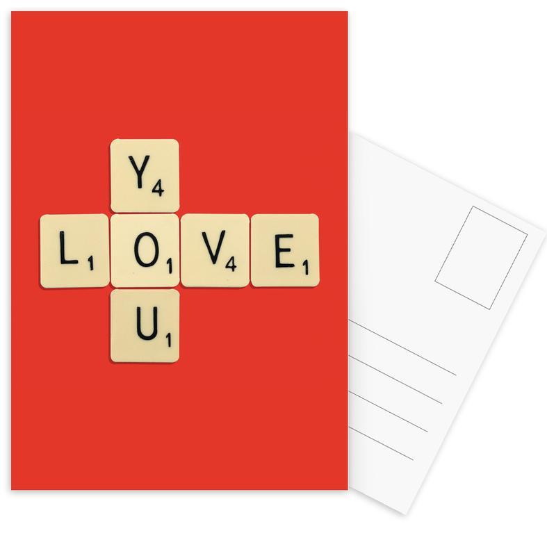I Love You cartes postales
