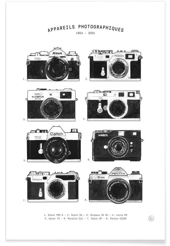 Appareils Photographiques no border -Poster