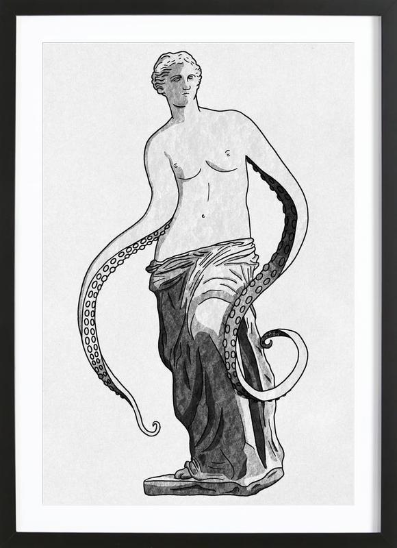 Venus - tentacles -Bild mit Holzrahmen