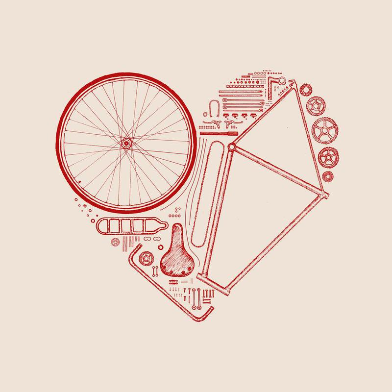 Love Bike 2 Aluminium Print