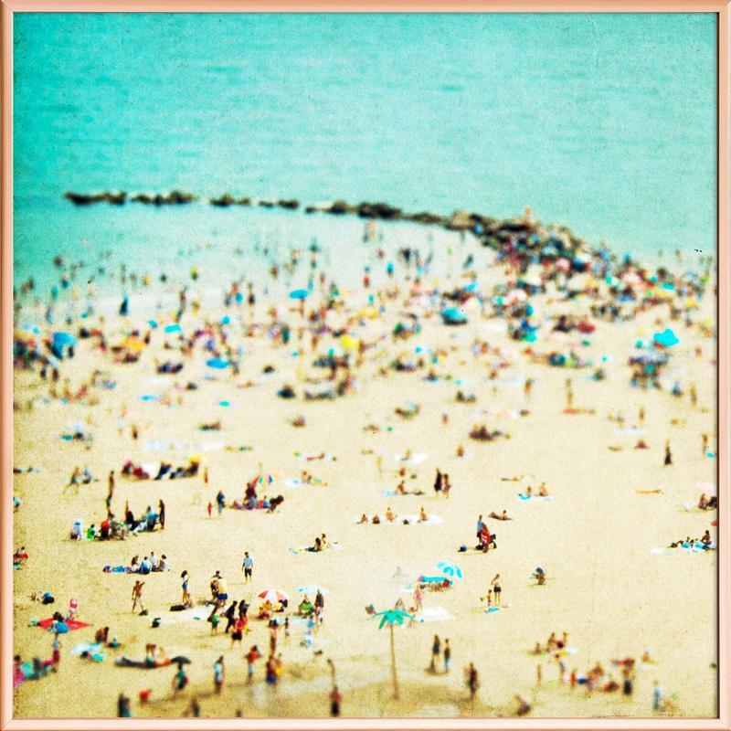Coney Island Beach 2 -Poster im Alurahmen