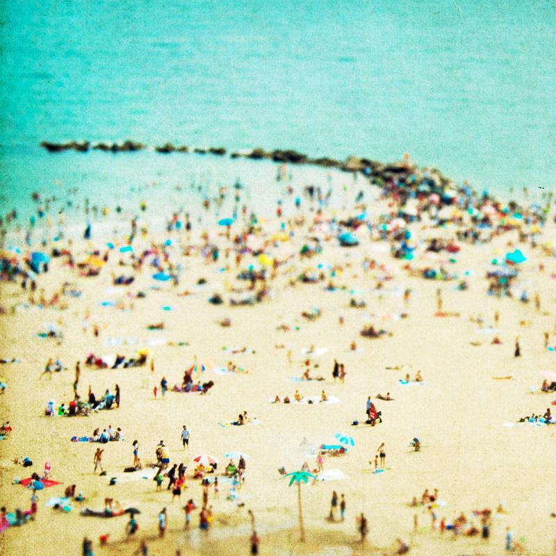 Coney Island Beach 2 -Acrylglasbild