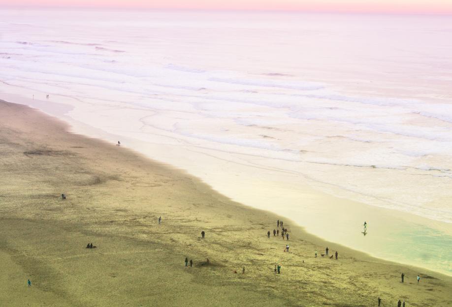 Ocean Beach California alu dibond