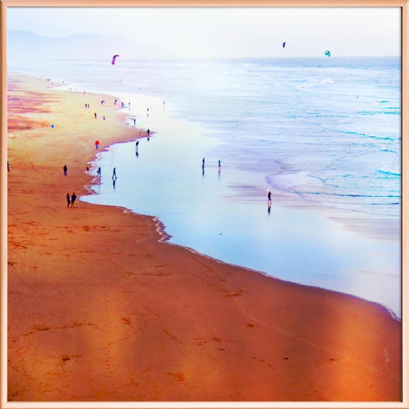 Ocean Beach California Winter poster in aluminium lijst