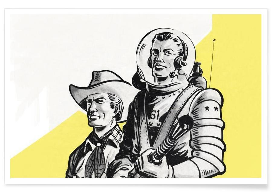 Astronauts and Cowboys -Poster