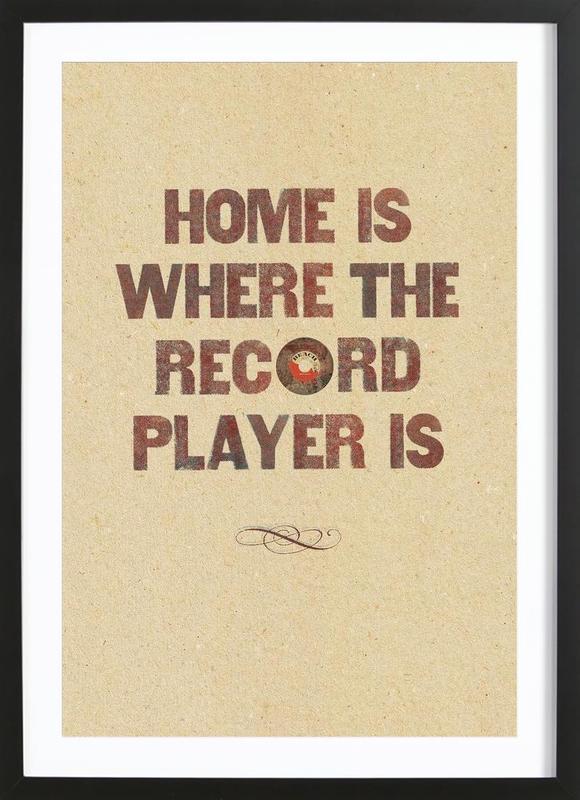Home is where… -Bild mit Holzrahmen