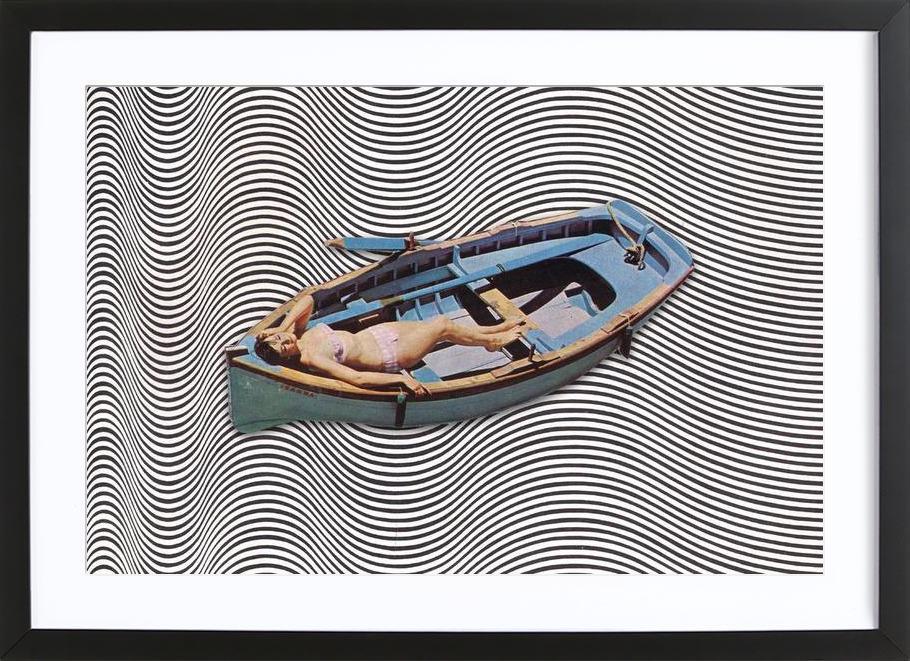 Adrift -Bild mit Holzrahmen