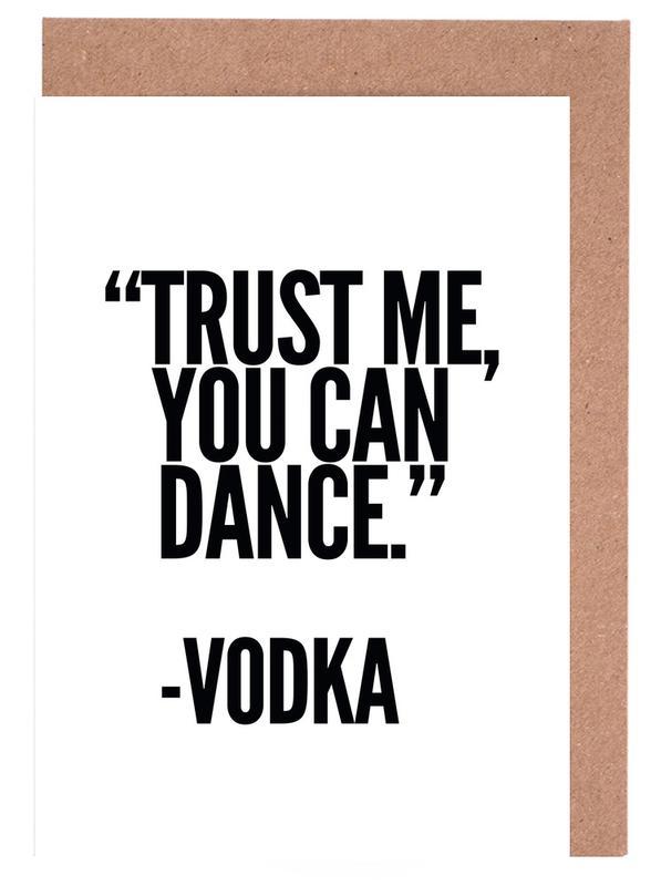 Vodka -Grußkarten-Set