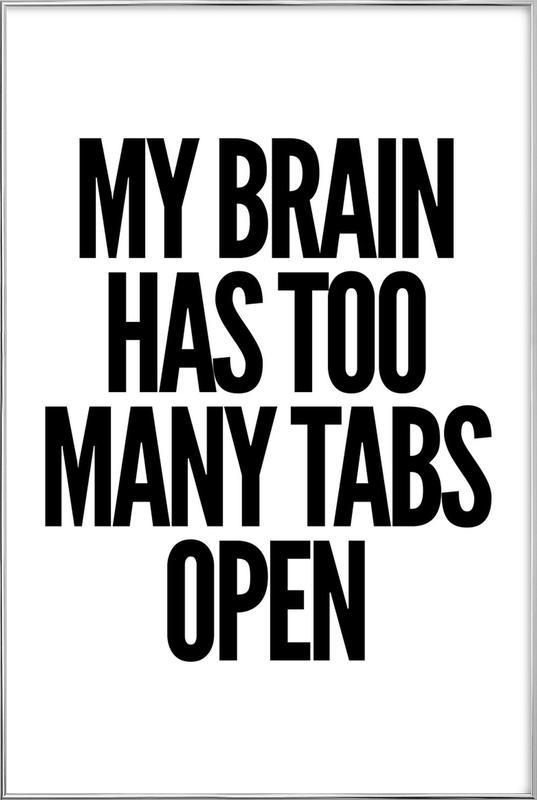 Brain -Poster im Alurahmen