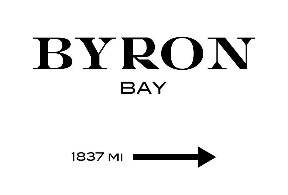 Byron Bay -Acrylglasbild