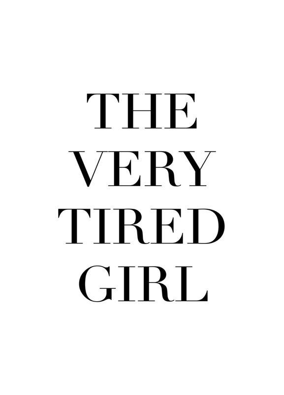 Tired Girl -Leinwandbild