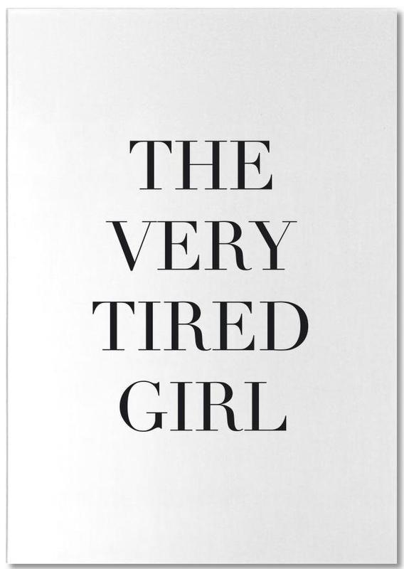 Tired Girl -Notizblock