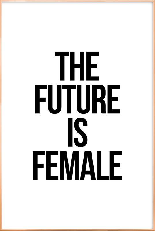 Female -Poster im Alurahmen