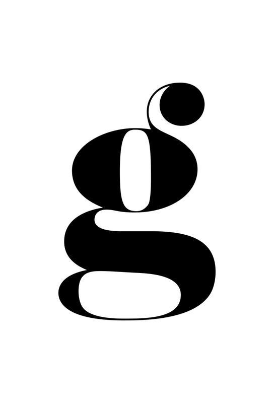 G Letter -Acrylglasbild