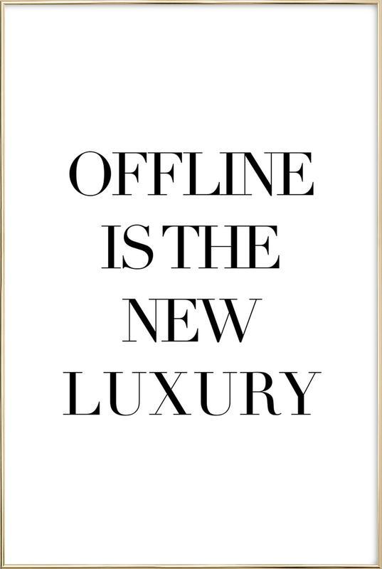 Luxury -Poster im Alurahmen