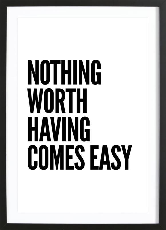Nothing Worth -Bild mit Holzrahmen