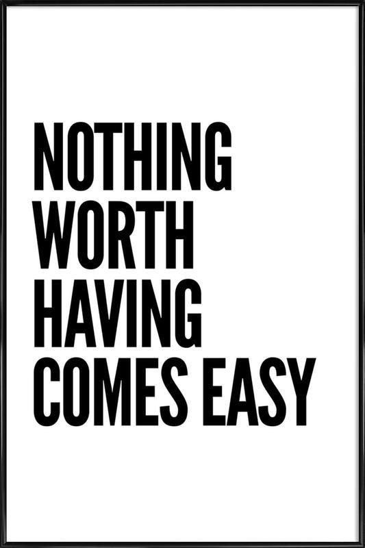 Nothing Worth -Bild mit Kunststoffrahmen