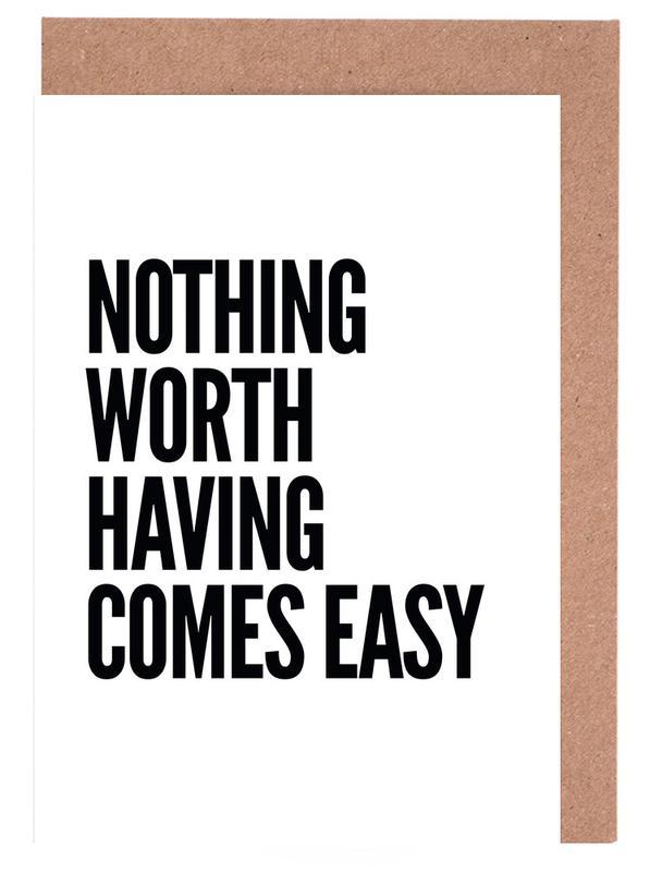 Nothing Worth -Grußkarten-Set