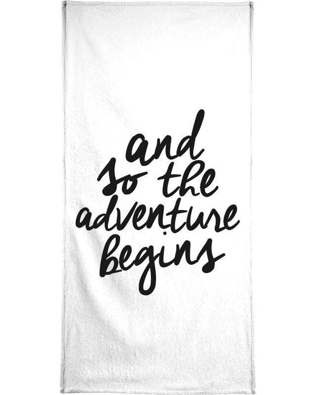 Adventure Begins Bath Towel