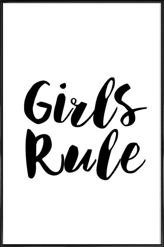 Girls Rule -Bild mit Kunststoffrahmen