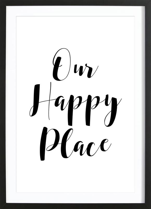 Our Happy Place Framed Print